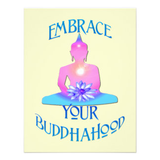 """Embrace Your BuddhaHood"" Buddhism Designs Custom Announcements"