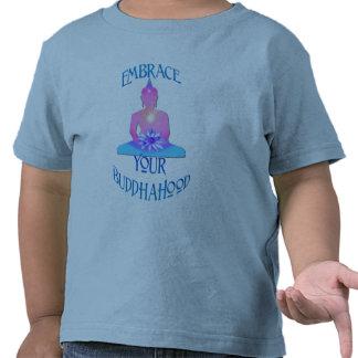 """""""Embrace Your BuddhaHood"""" Buddhism Designs Tshirts"""