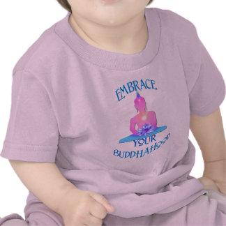 """""""Embrace Your BuddhaHood"""" Buddhism Designs Tshirt"""