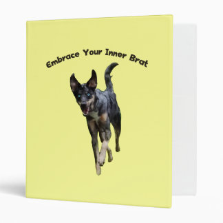 Embrace Your Inner Brat Catahoula Dog 3 Ring Binder