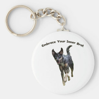 Embrace Your Inner Brat Catahoula Dog Basic Round Button Keychain