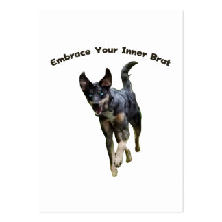 Embrace Your Inner Brat Catahoula Dog Large Business Card