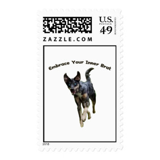 Embrace Your Inner Brat Catahoula Dog Stamps