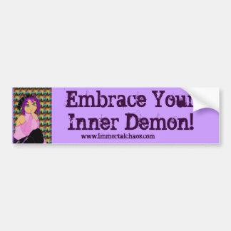 Embrace your inner demon bumper sticker