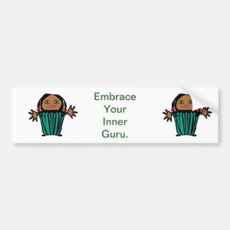 Embrace your inner guru - bumper sticker.
