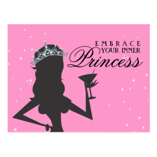 Embrace Your Inner Princess Funny Postcard