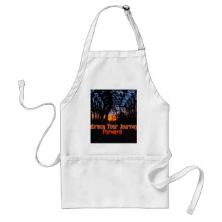 Embrace Your Journey Forward tree Tunnel Quote Adult Apron