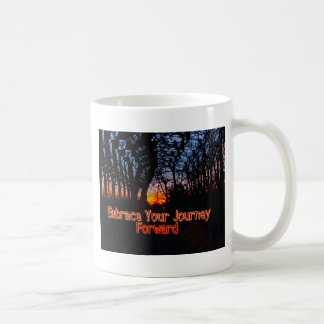 Embrace Your Journey Forward tree Tunnel Quote Coffee Mug