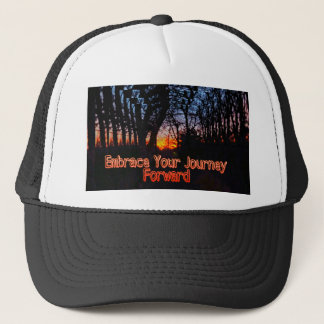 Embrace Your Journey Forward tree Tunnel Quote Trucker Hat