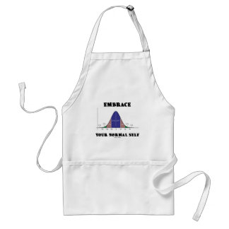 Embrace Your Normal Self (Bell Curve Humor) Adult Apron