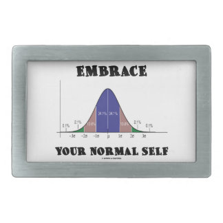Embrace Your Normal Self (Bell Curve Humor) Belt Buckle