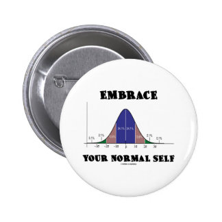 Embrace Your Normal Self (Bell Curve Humor) Button