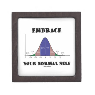 Embrace Your Normal Self (Bell Curve Humor) Gift Box