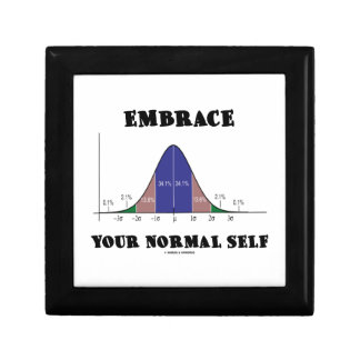 Embrace Your Normal Self (Bell Curve Humor) Keepsake Box