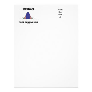 Embrace Your Normal Self (Bell Curve Humor) Letterhead