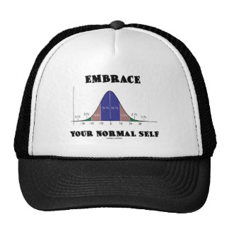 Embrace Your Normal Self (Bell Curve Humor) Trucker Hat