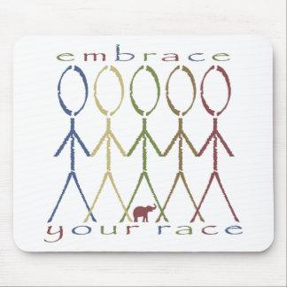 embrace your race mousepads