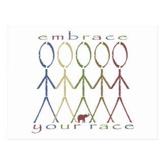 """""""embrace your race"""" postcard"""