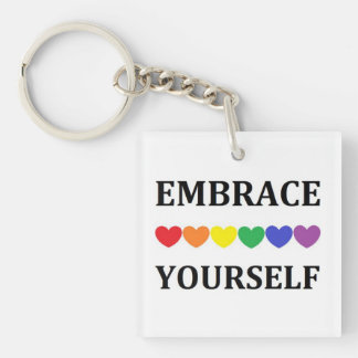 Embrace yourself square keyring
