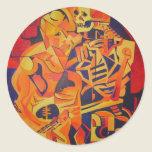 Embracing Death Round Sticker