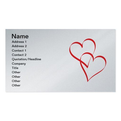 Embracing Hearts Business Card
