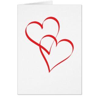 Embracing Hearts Greeting Card