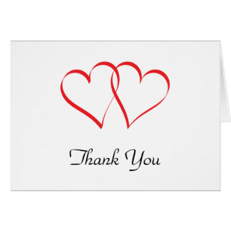 Embracing Hearts Thank You Card