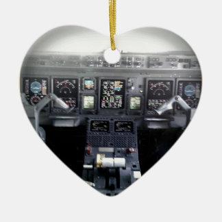 Embraer 145 Flight Deck Ceramic Ornament