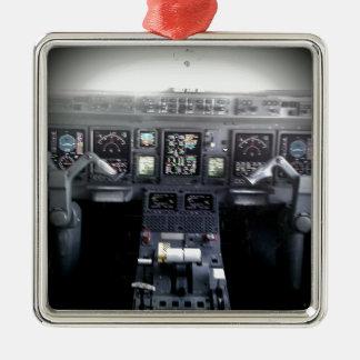 Embraer 145 Flight Deck Metal Ornament