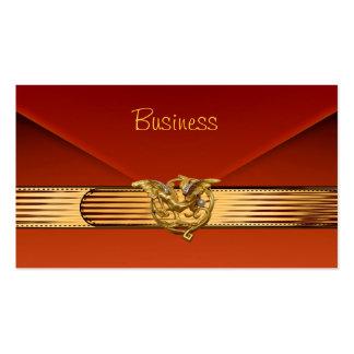 Embrague anaranjado quemado del oro del terciopelo tarjeta de visita