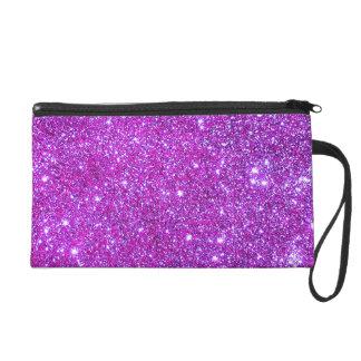 Embrague atractivo brillante púrpura rosado del