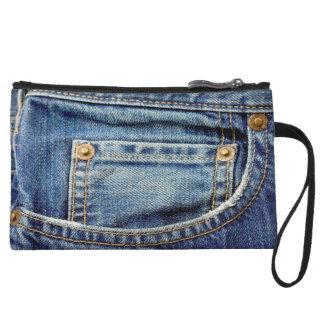 Embrague del bolsillo de los tejanos del dril de a