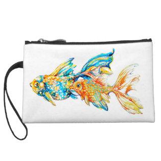 Embrague del Goldfish de la acuarela