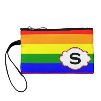 Embrague del monograma del orgullo del arco iris