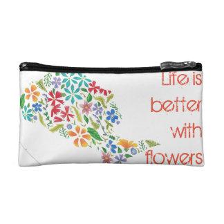 Embrague floral de la silueta del chica/mini bolso