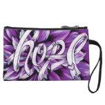 Embrague floral púrpura del cáncer pancreático de