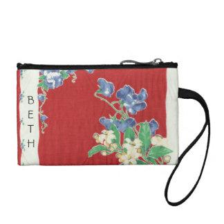 Embrague floral rojo del pañuelo