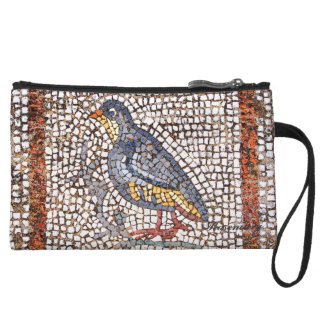 Embrague lindo del mosaico del pájaro de Kos mini