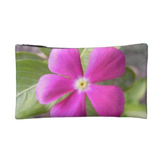 Embrague púrpura exótico del cosmético de la flor