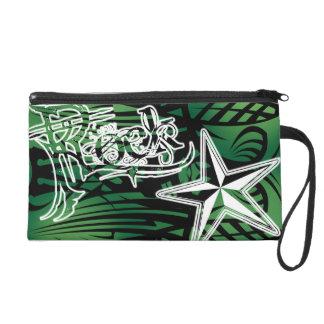 Embrague tribal verde de la estrella del rock