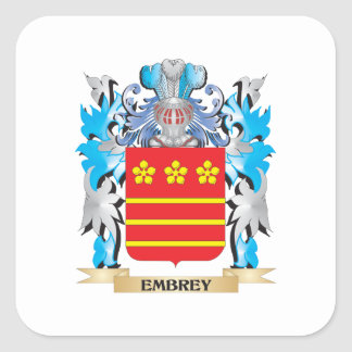 Embrey Coat of Arms - Family Crest Square Sticker