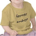 embrión anterior camisetas