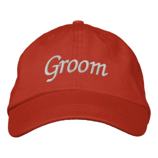 Embroider Gifts Groom Hat   Cap