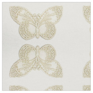 Embroider Lace Butterfly Fabric