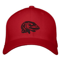 Embroider Mad Musky Logo -MuskyFreak Embroidered Baseball Hat
