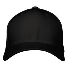 Embroider your own Black Flexfit Wool Cap at Zazzle