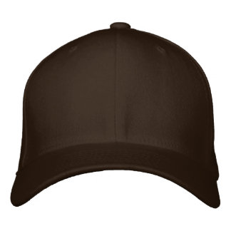 Embroider your own Brown Flexfit Wool Cap Baseball Cap