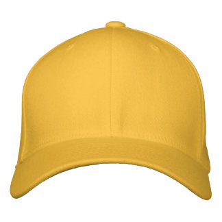 Embroider your own Gold Flexfit Wool Cap Embroidered Baseball Cap