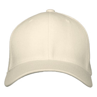 Embroider your own Natural Flexfit Wool Cap Baseball Cap