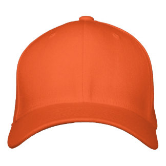 Embroider your own Orange Flexfit Wool Cap Embroidered Baseball Caps